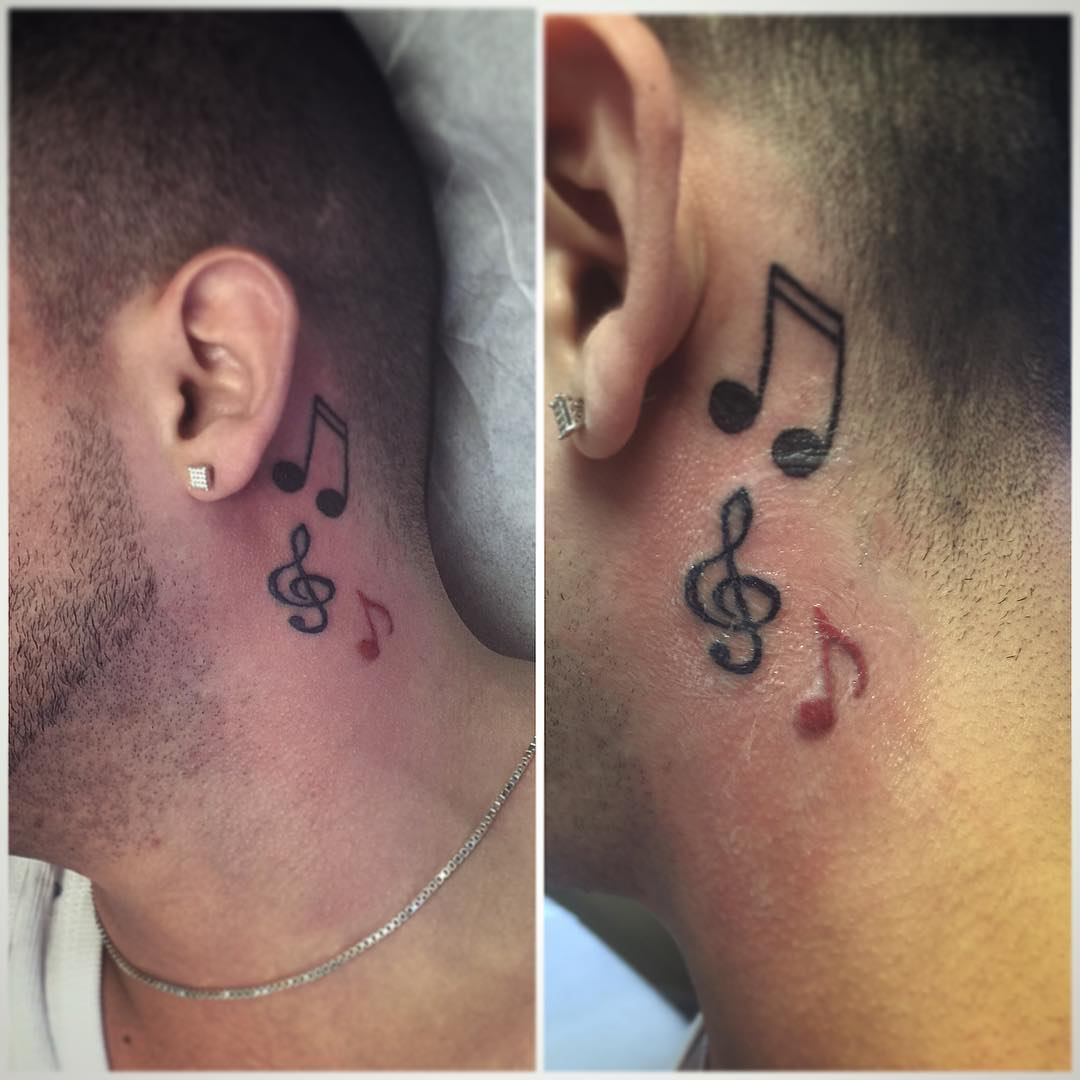 Cute Musical Tattoo For Men