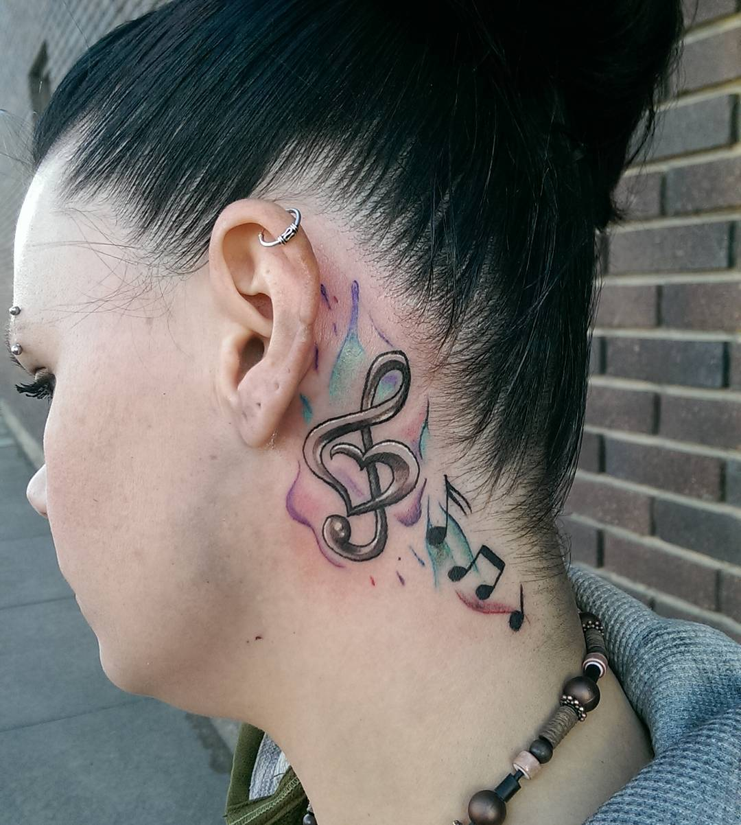 Beautiful Musical Tattoo for Women