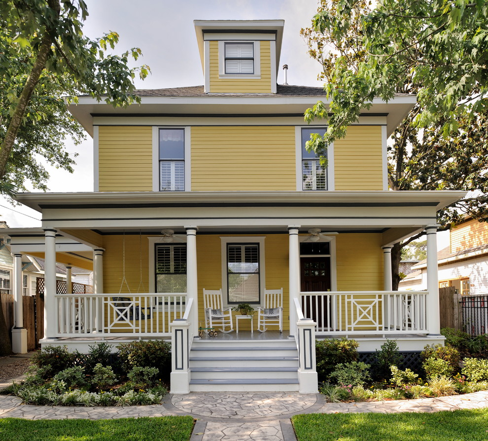 Exterior House Paint Color Ideas: 22+ Eclectic Porch Ideas