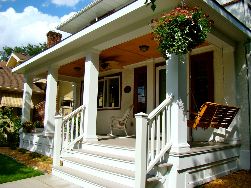 22 eclectic porch ideas outdoor designs design trends for Craftsman porch