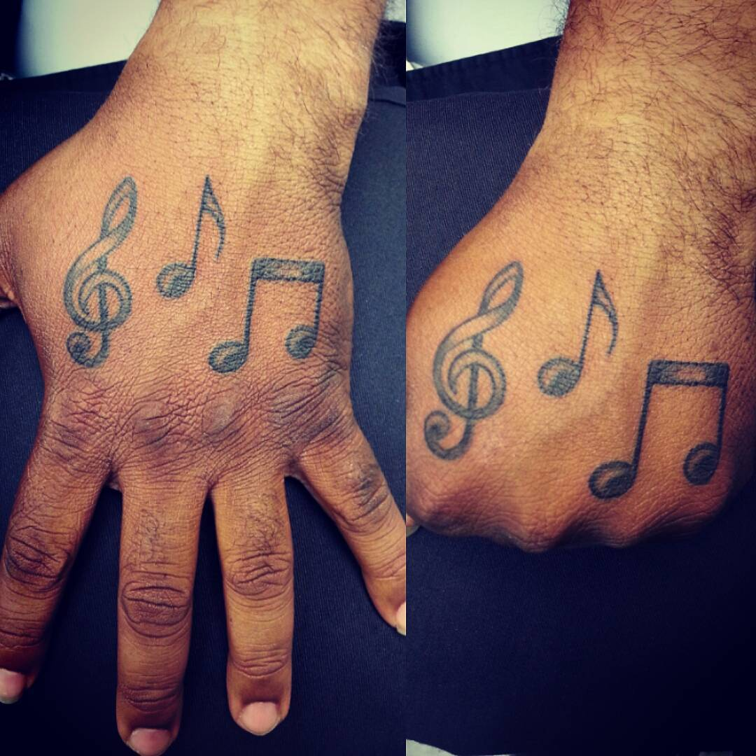 Music Palm Tattoos For Men