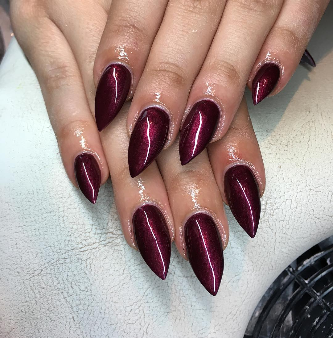 Acrylic Long Nail Design