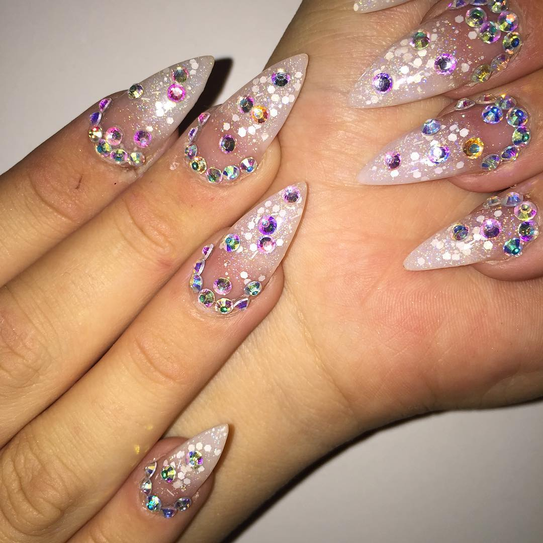 26+ Long Acrylic Nail Art Designs , Ideas | Design Trends - Premium ...