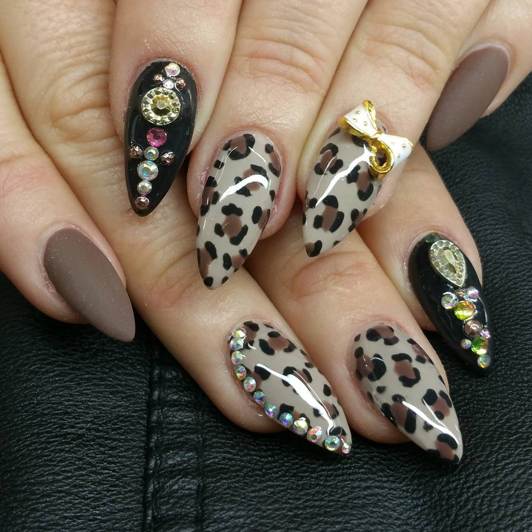 Attractive Designed Nail Art For Long Nails