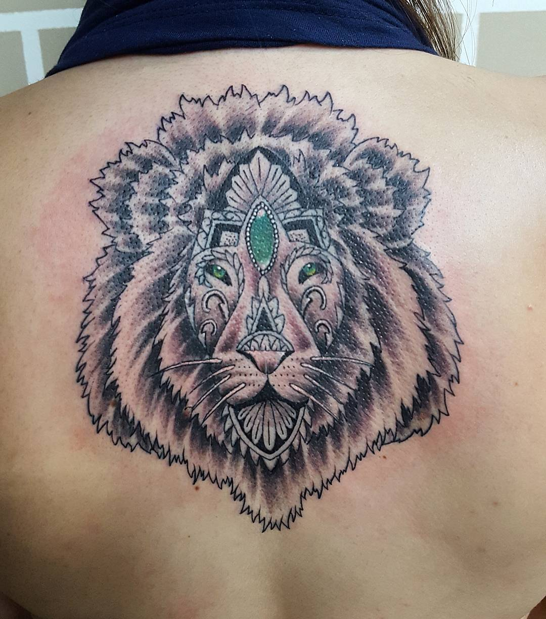 Lion With Crown Tattoo Art