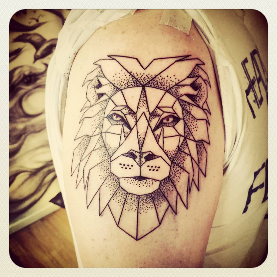 Different Designed Tattoo of Lion.