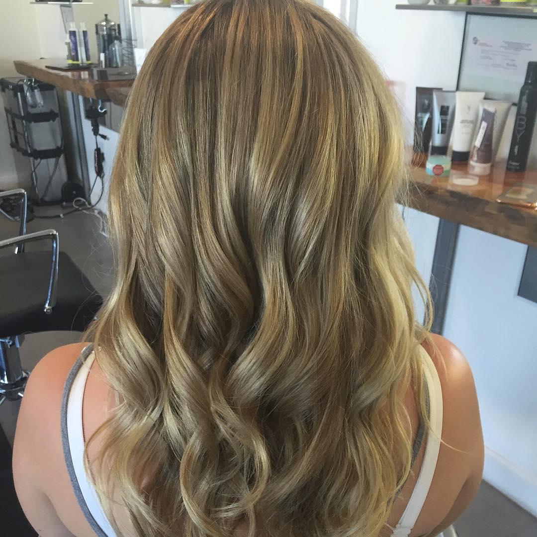 Beach wavey style hair