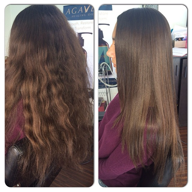 Sleek & Straight hair style
