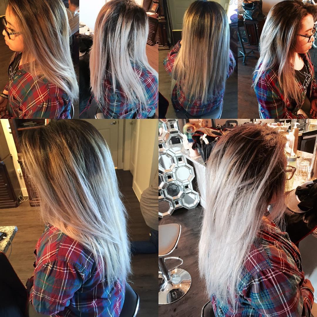 Platinum Blonde Hair Color idea
