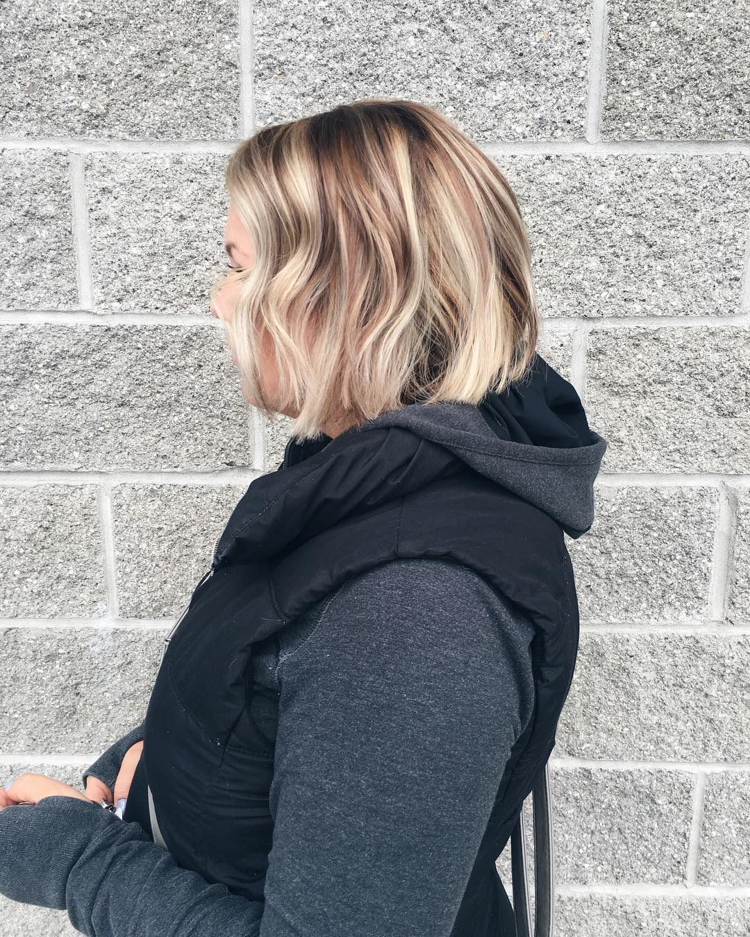 Blonde Inverted Haircut