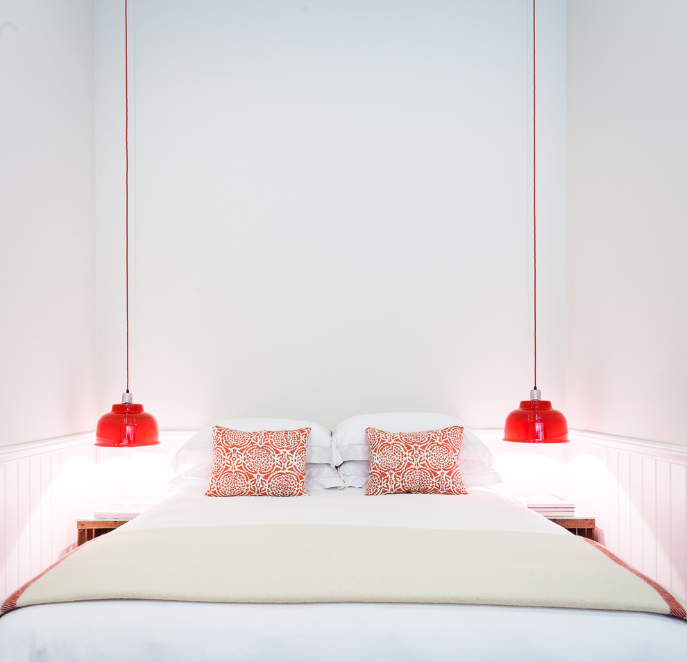 beautiful suspended bedside lamps ideas