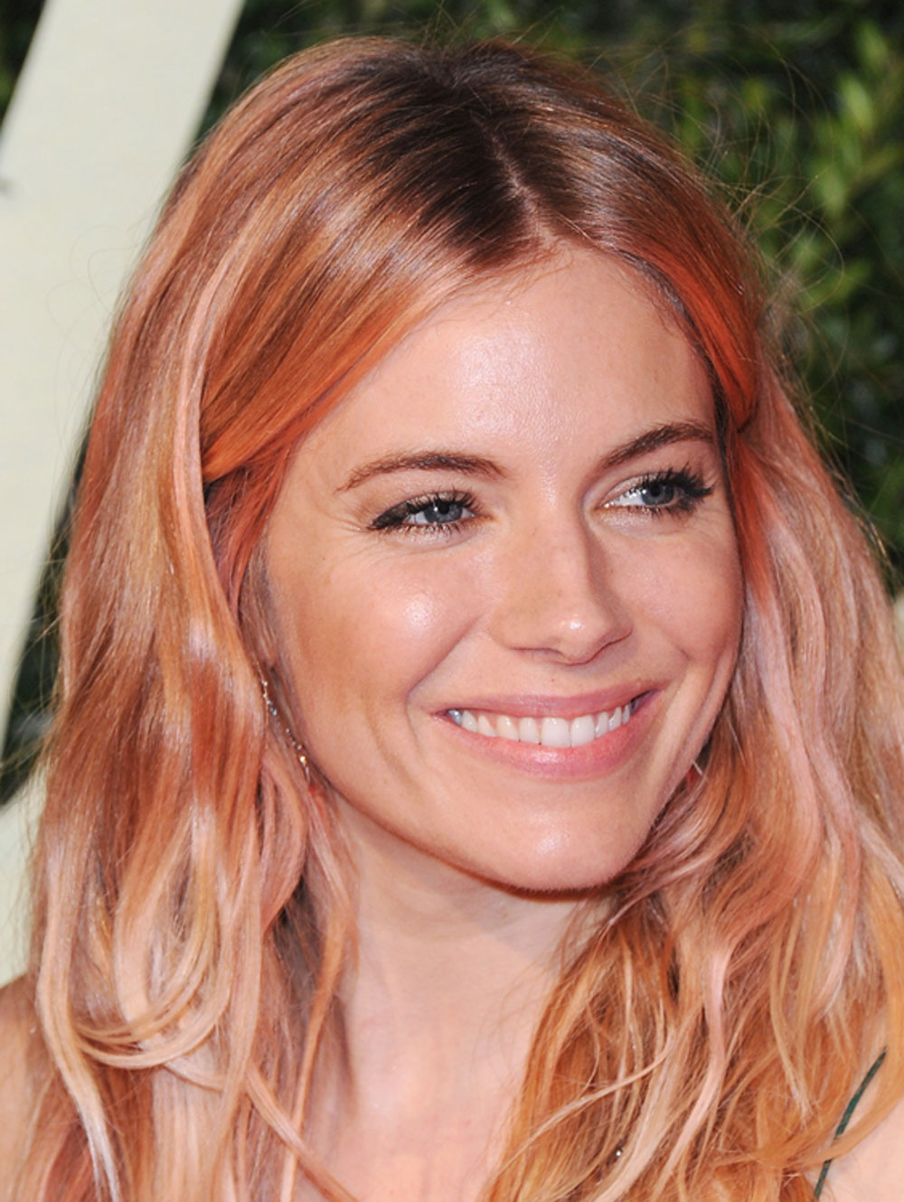 Sienna Miller with candy floss hair color