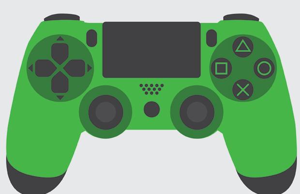 PS4 Controller Logo Design