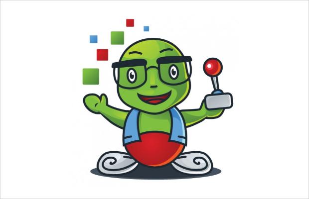 cartoon game controller Logo Design