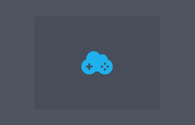 Cloud Game Controller Logo Design