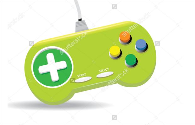 Wired Game Controller Logo Design