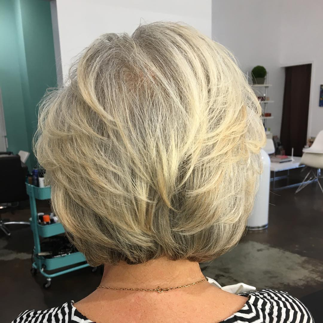 Layrered Bob Haircut for Light Hair
