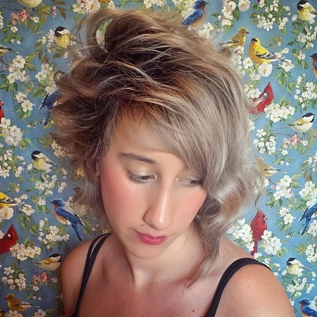 Blonde Layered Hair Design