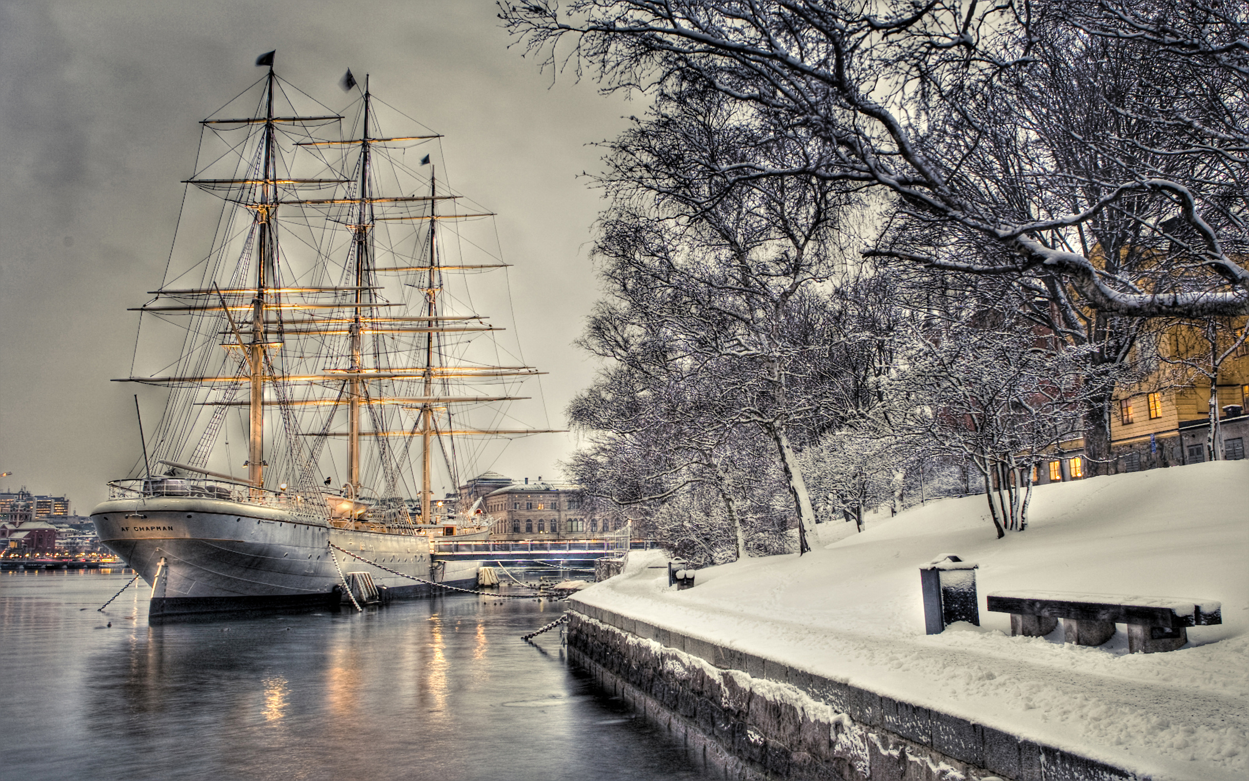 sailing ship background