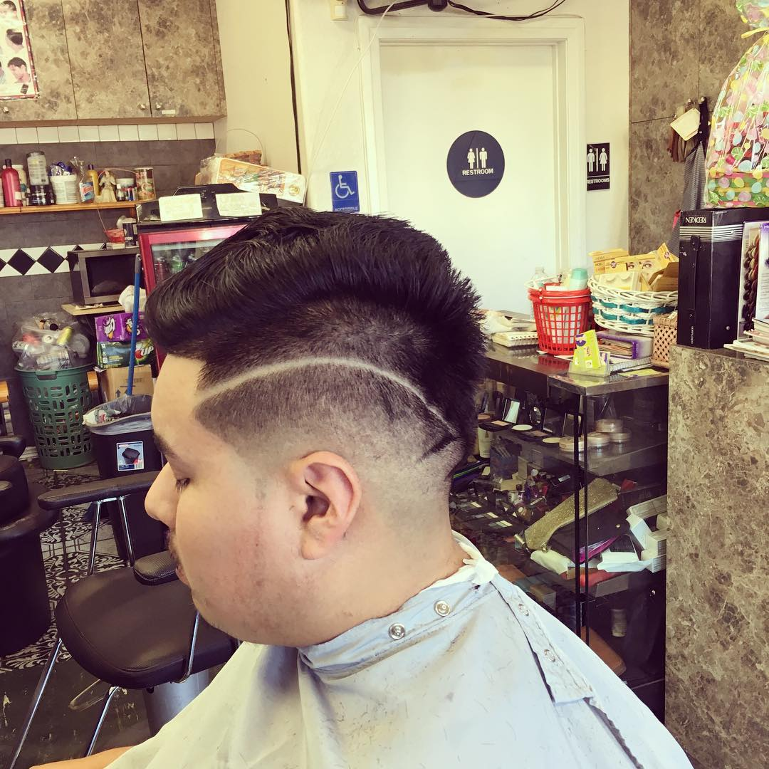 Shaved Sides Taper Hair for Men