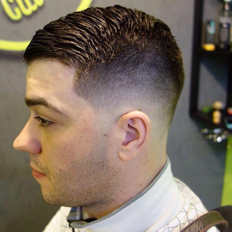 fade comb over taper style