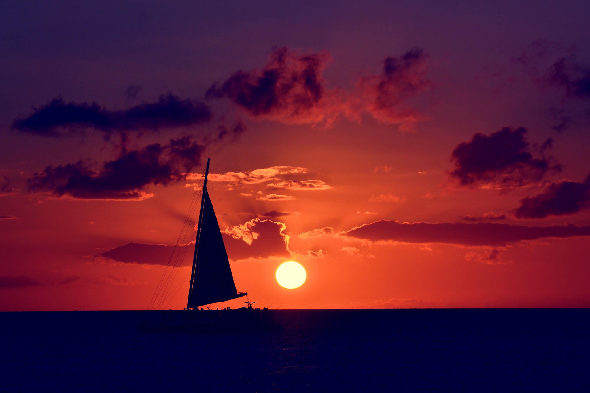 hd sailboat background