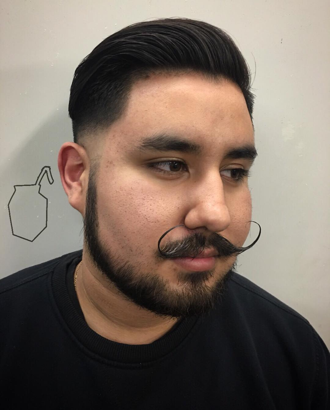 Fashion Fade Taper with Mostache