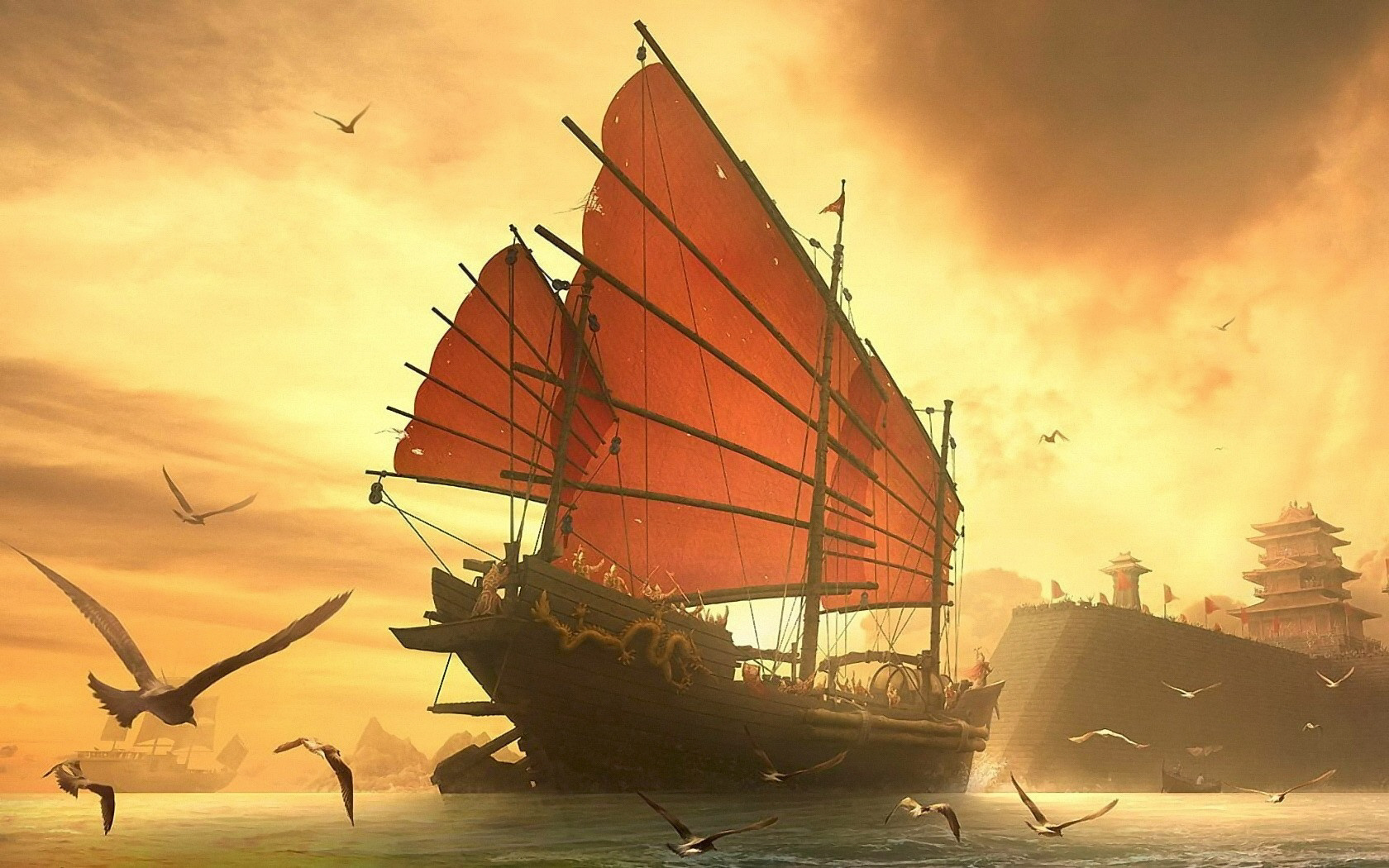 Fantasy Ship Wallpaper