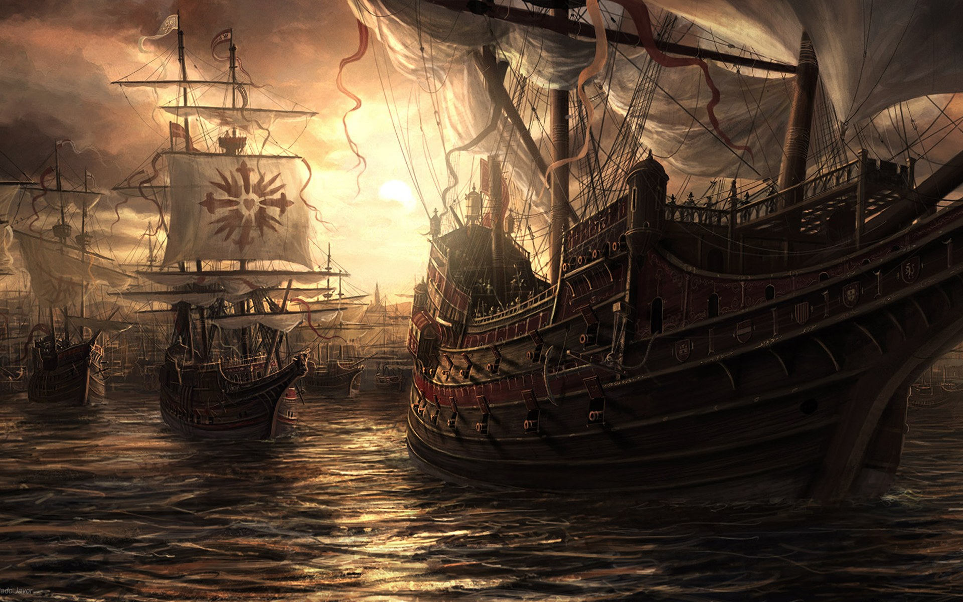 fantasy sailing background