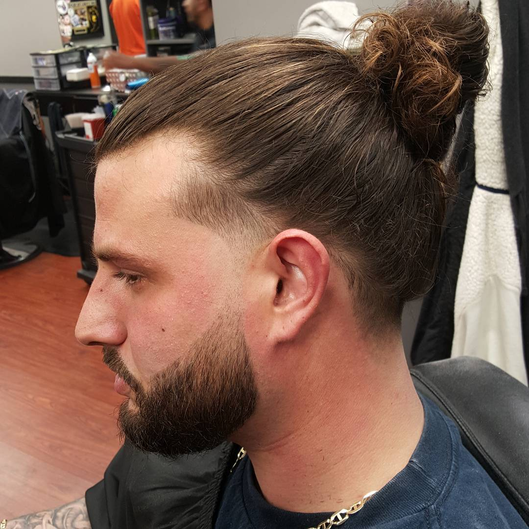 Bun Taper Haircut Design