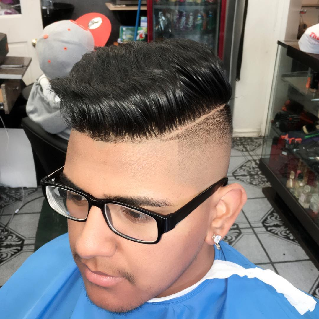 shaved sides taper hair