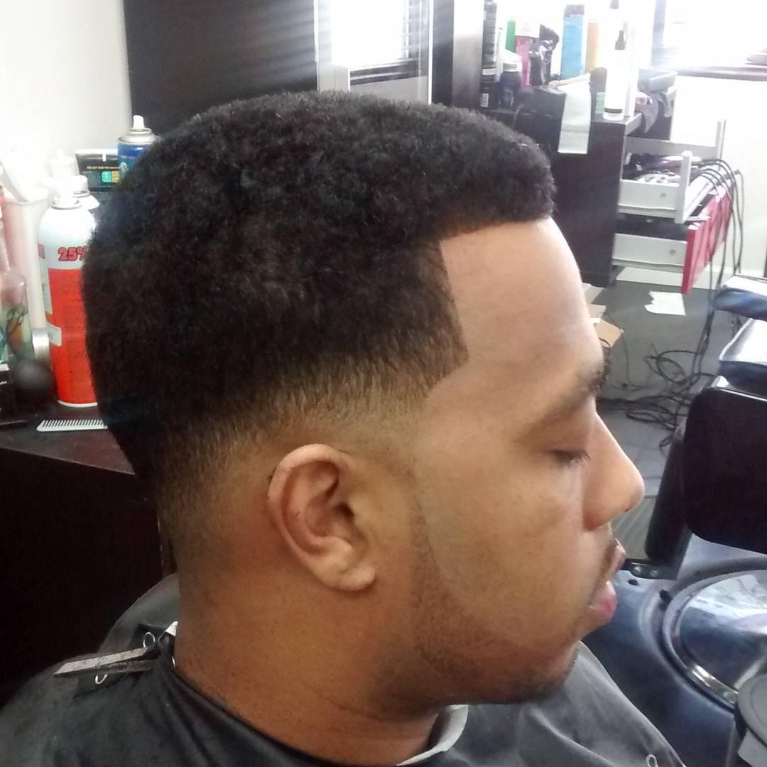 partial caeser taper hair