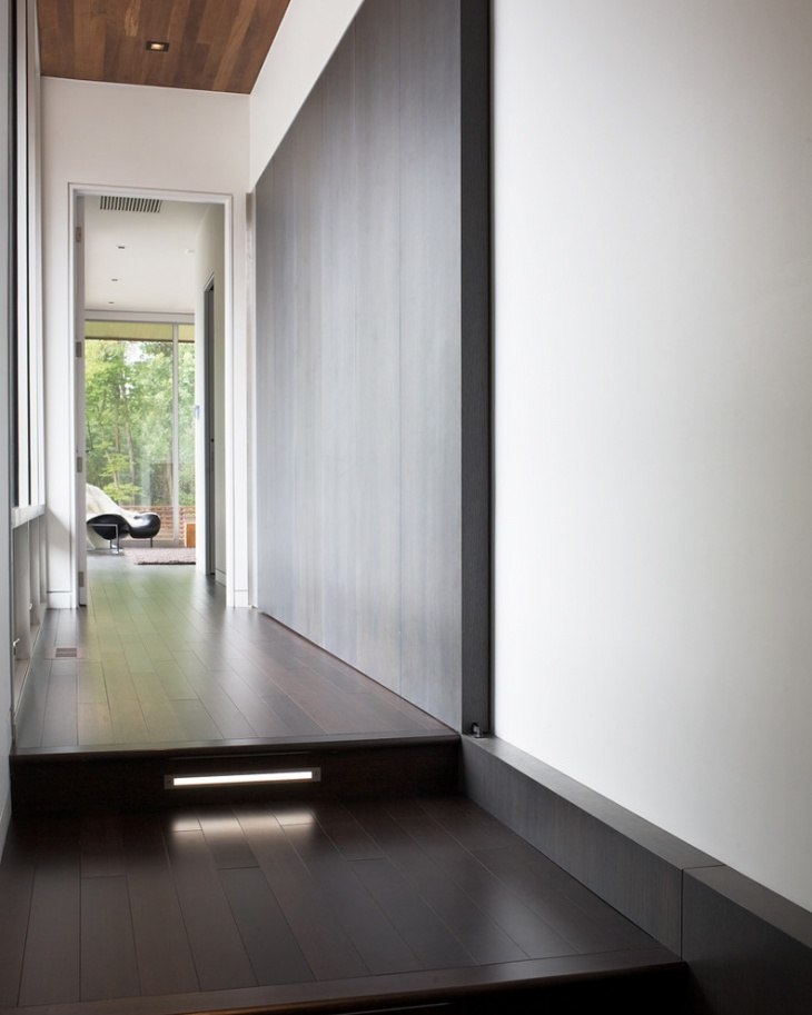 single floor light in modern hall