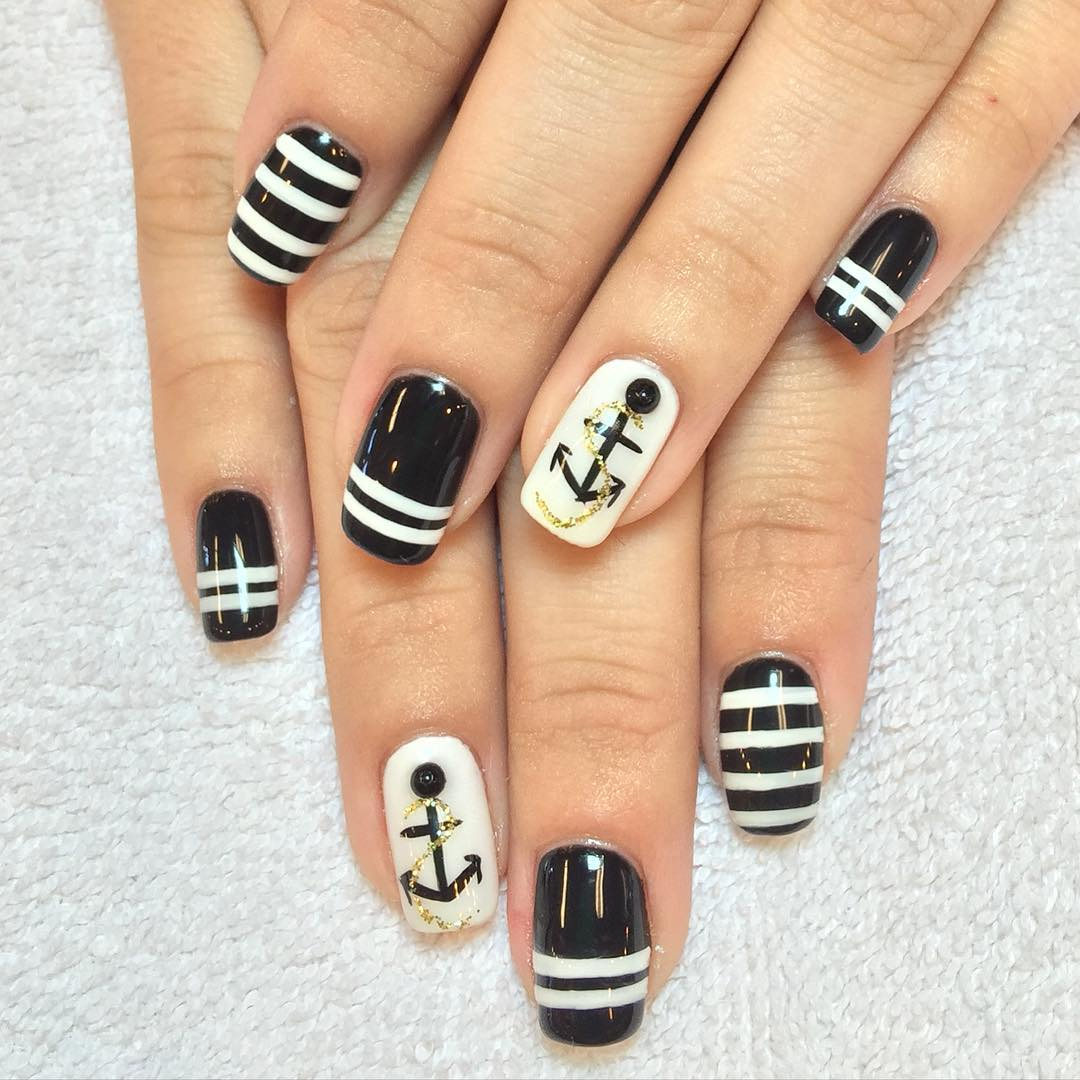 anchor design nail art trend