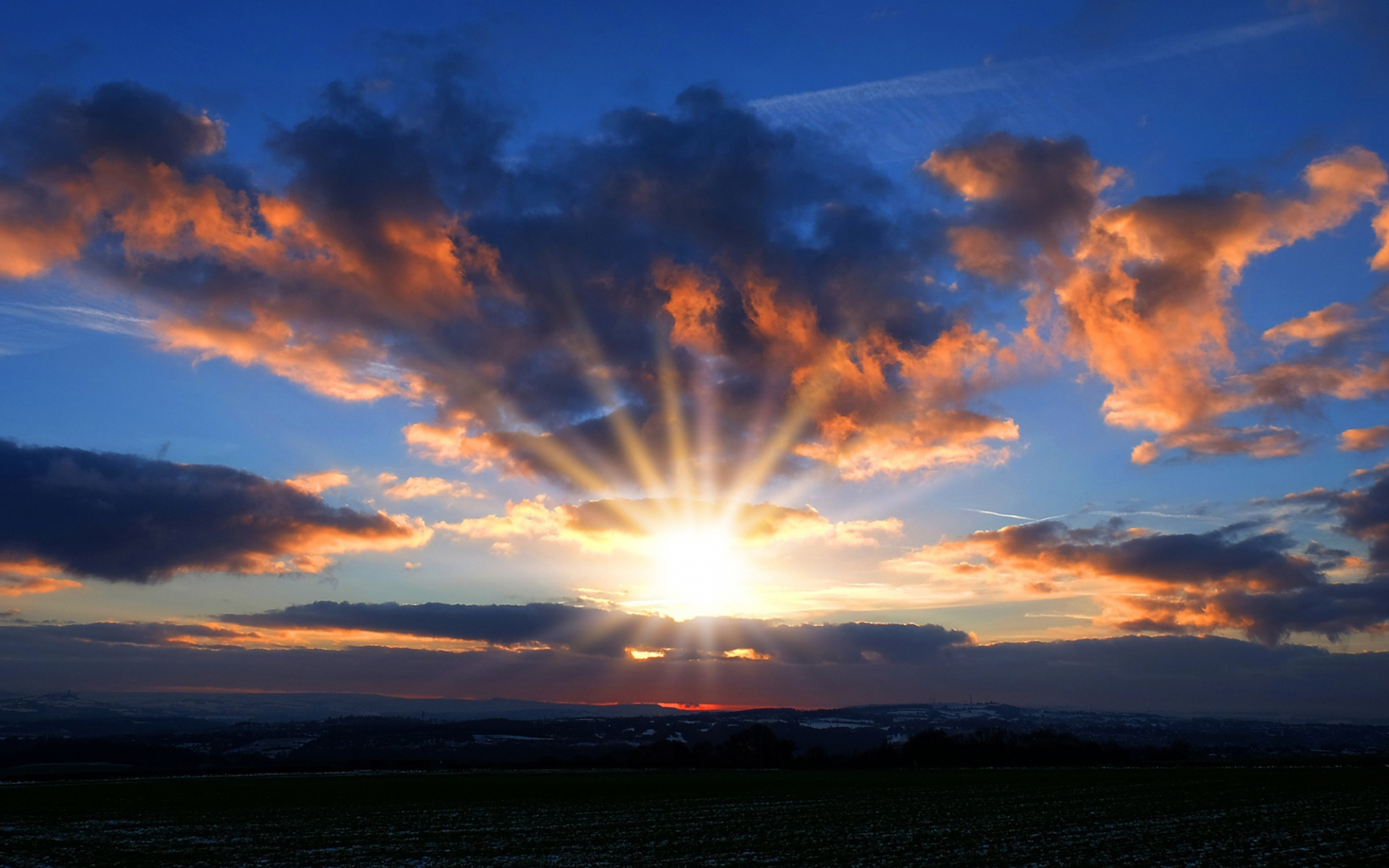 Sunset Sky Wallpaper Background
