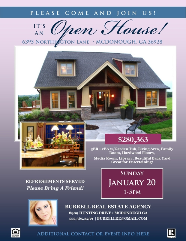 Open House Advertisement Flyer Design