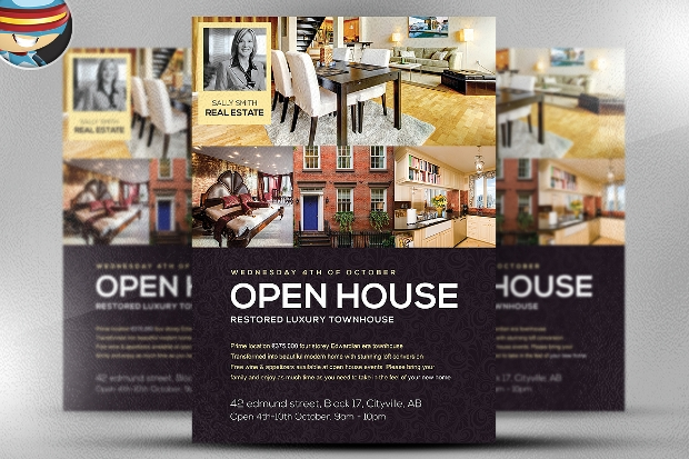 28 open house flyer designs psd word eps download. Black Bedroom Furniture Sets. Home Design Ideas