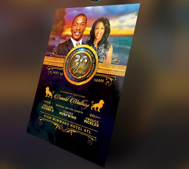 Royal Church Anniversary Flyer