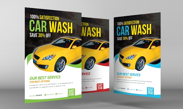 Eye Catching Car Wash Flyer