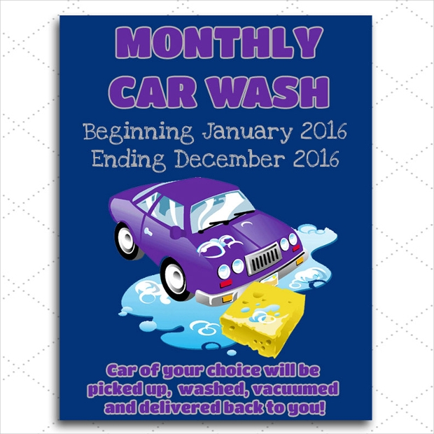 Customizable Car Wash Flyer