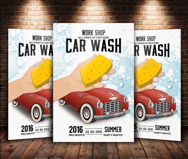 Car Wash Work Shop Flyer
