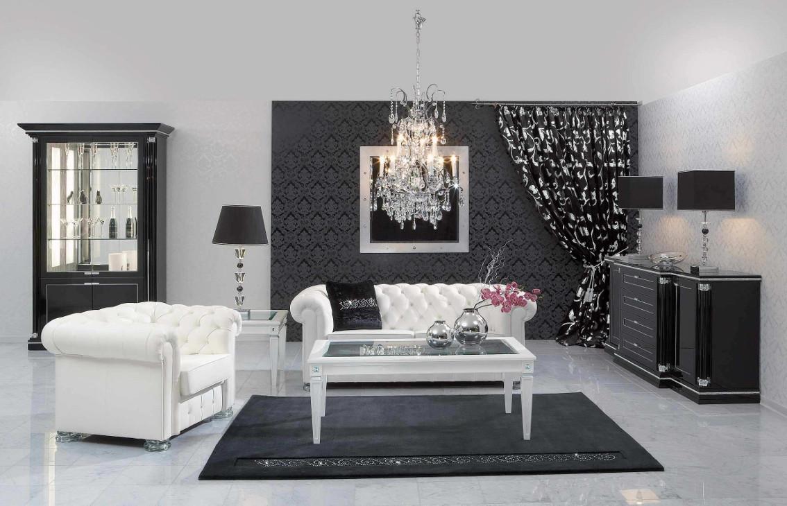 21+ Black and White Living Room Designs | Design Trends ...