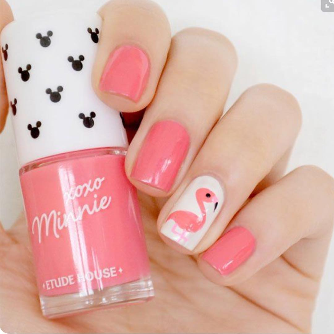 Bird Light Pink Nails