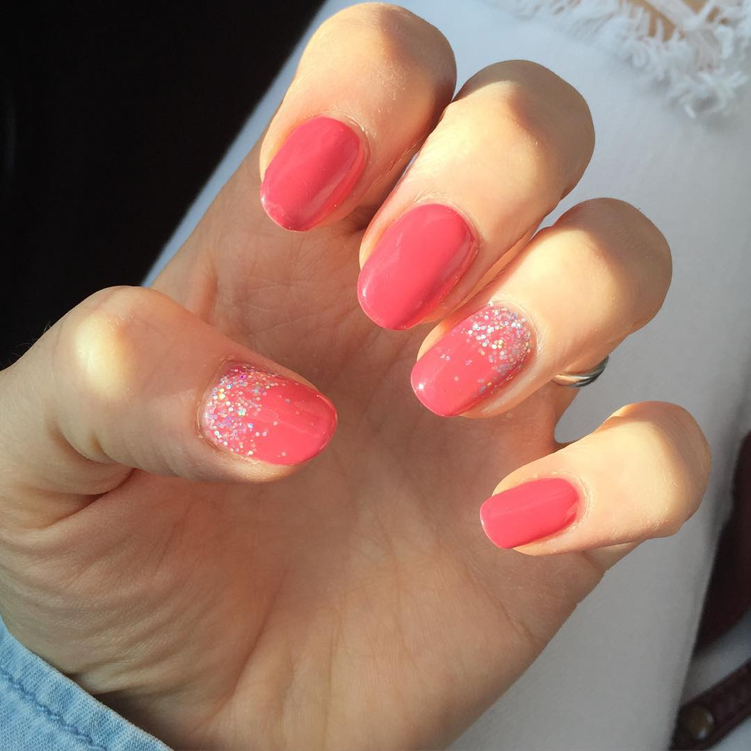 Fancy Look Short Summer Nails