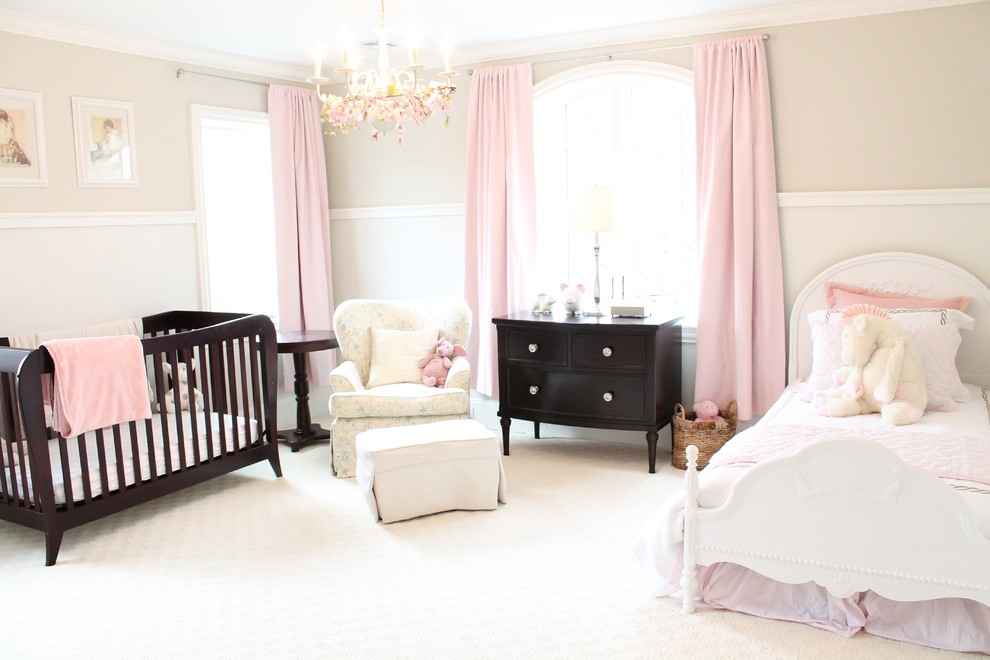 soft pink kids room chandelier ideas
