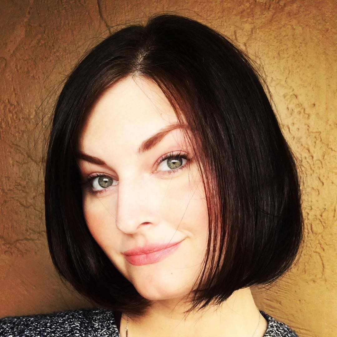 Chin Length Black Bob Hairstyle