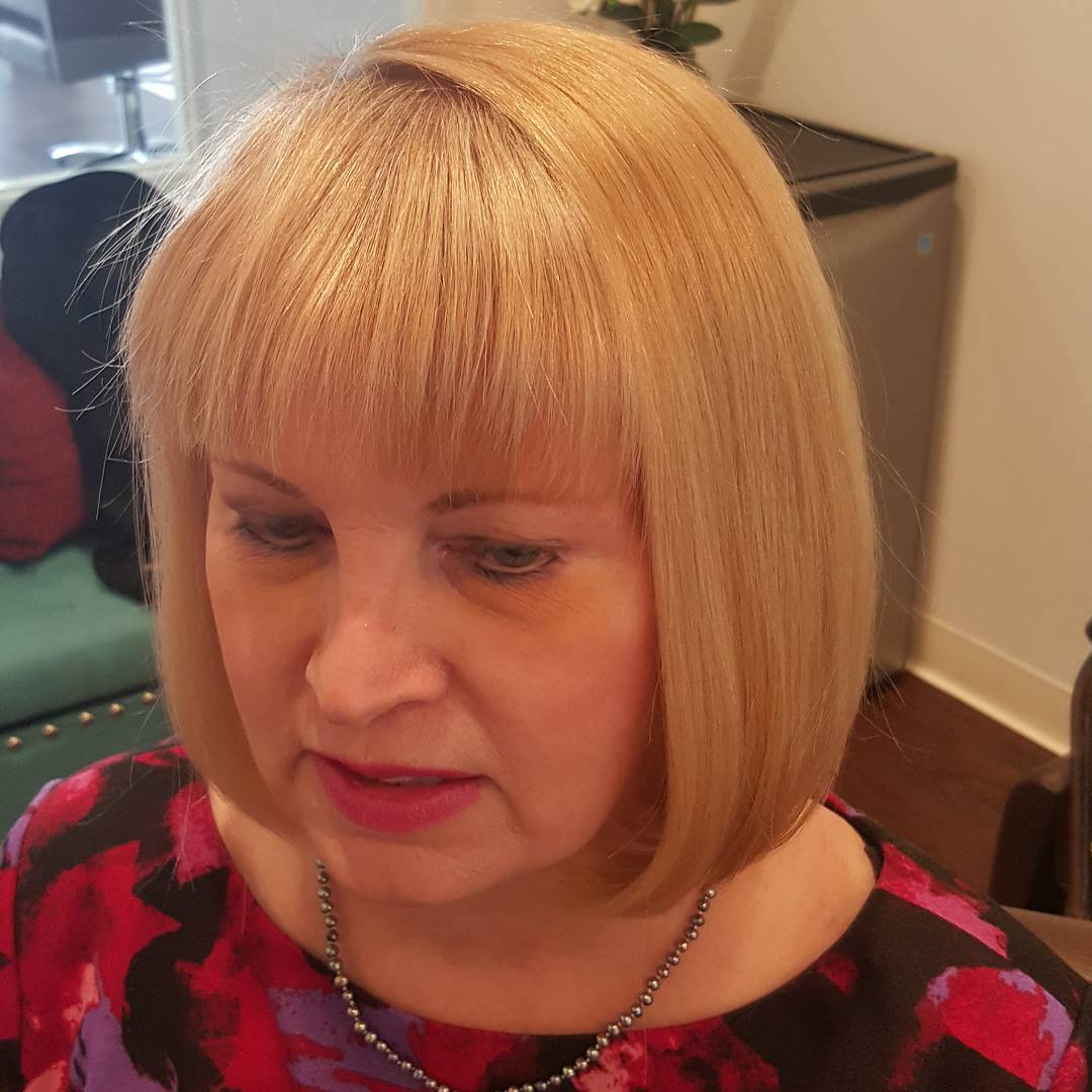 Gold Colored Chin Length Classic Bob