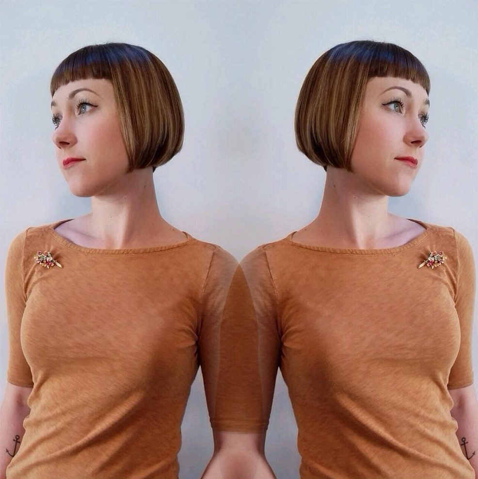 Balayaged Bob Hairstyle Of Short Length