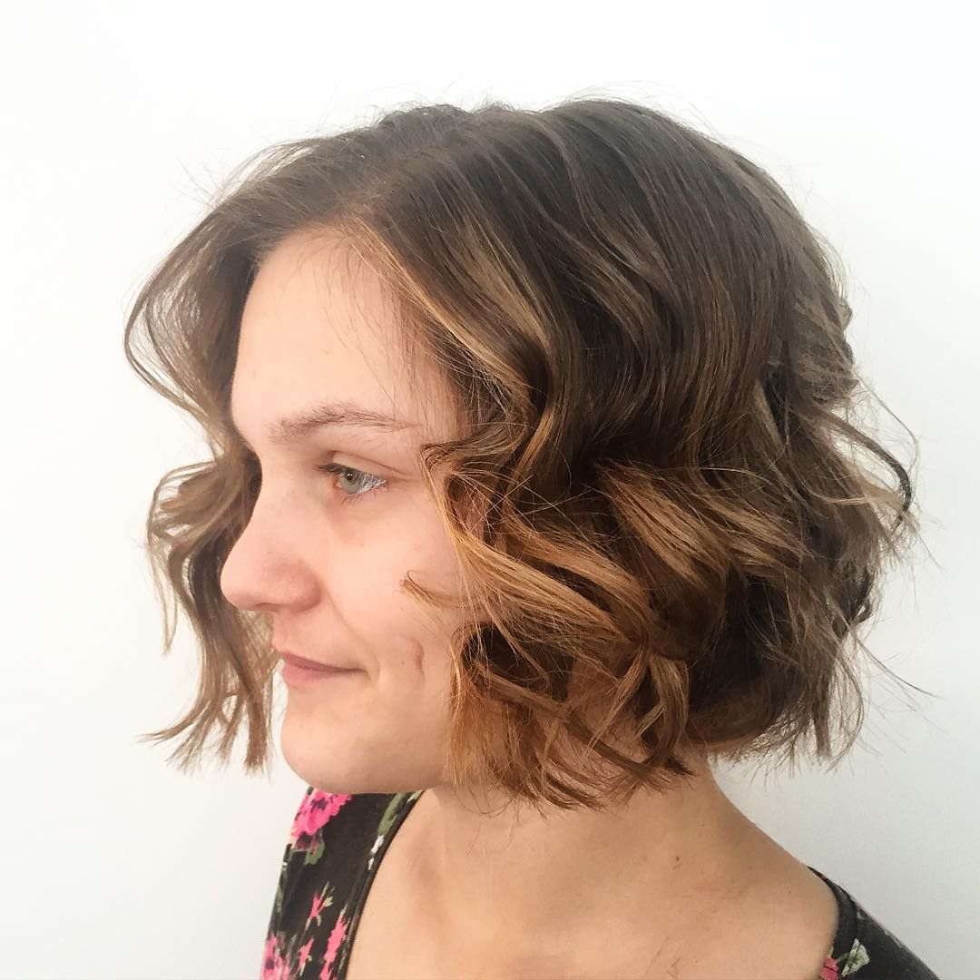 short curly shaggy haircut