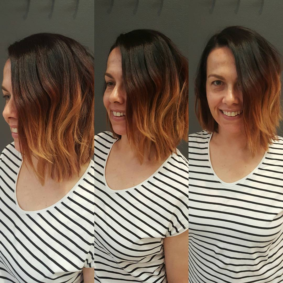 Two Toned Bob Hairstyle For Women.